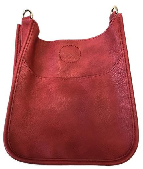 Red Mini Vegan Messenger Bag