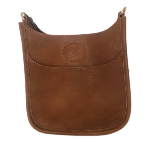 Petite Vegan Messenger Bag - Light Brown - Strap Sold Separately