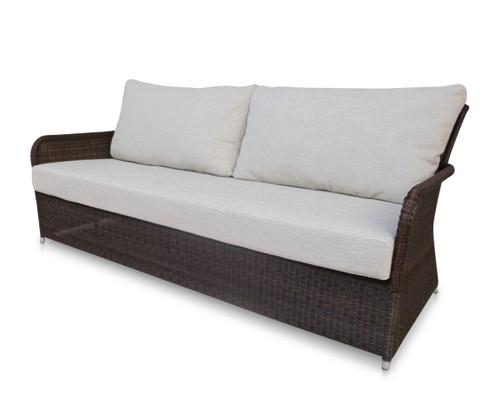Savannah Brown Wicker Sofa w/ Dune Cushions