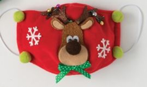 CHRISTMAS HOLIDAY FACE MASK, Reindeer