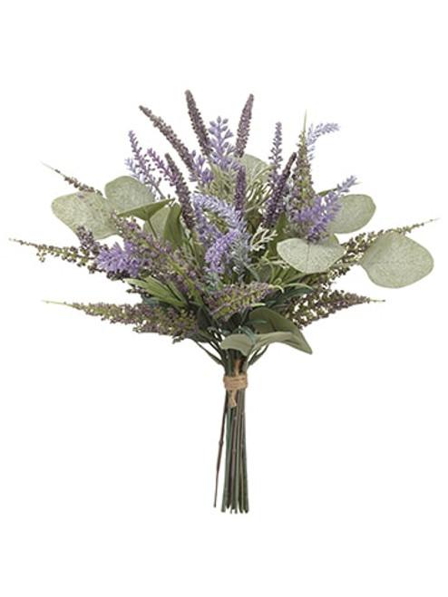 """13.5"""" Lavender/Eucalyptus Bouquet Lavender Green"""