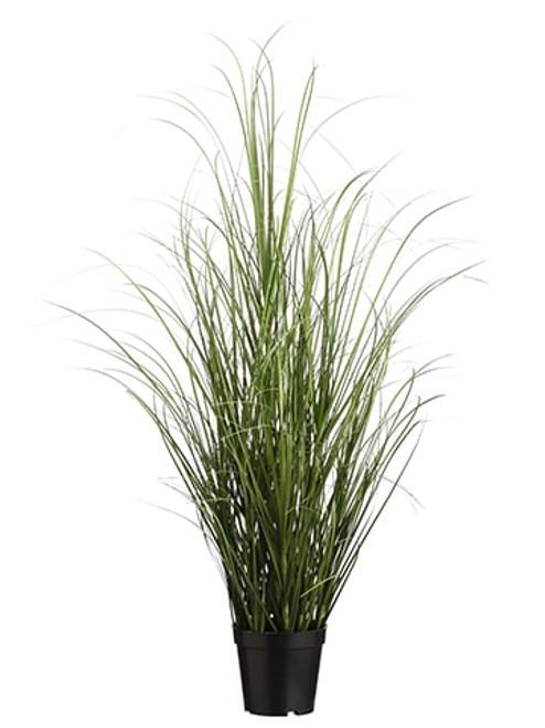 "39"" Grass Bush in Pot  Two Tone Green"