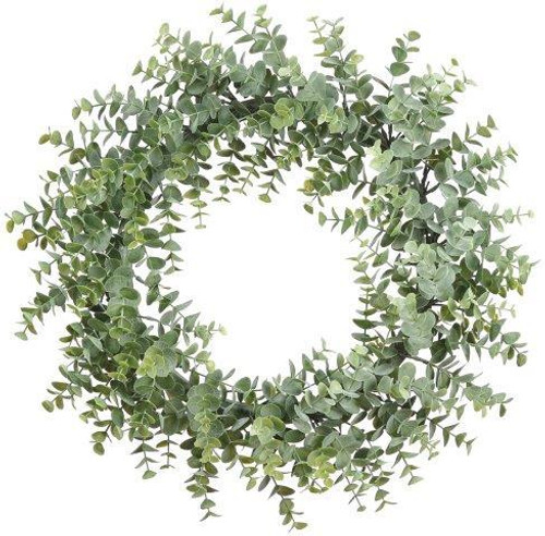 """20"""" Eucalyptus Wreath  Frosted Green"""