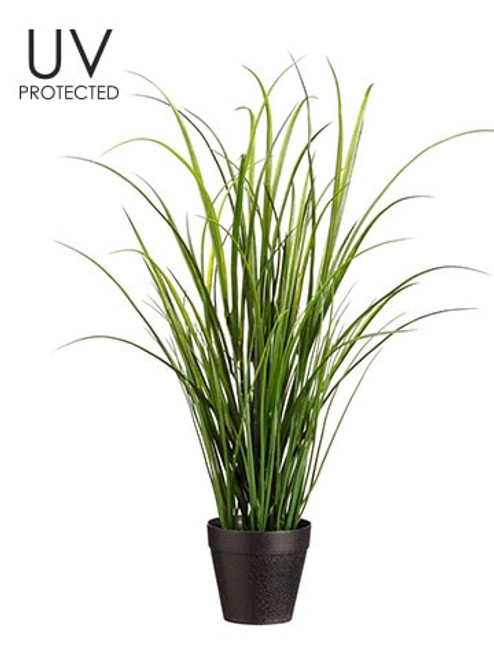 """24"""" UV Protected Tall Grass in Pot Green"""