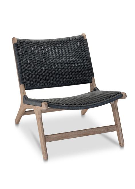 Arden Chair, Navy w/ Grey Teak - Set of 2