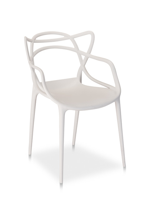 Jennifer Arm Chair, White - Set of 2