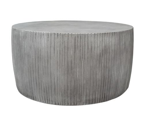 """Bridge 35"""" Round Drum Coffee Table"""