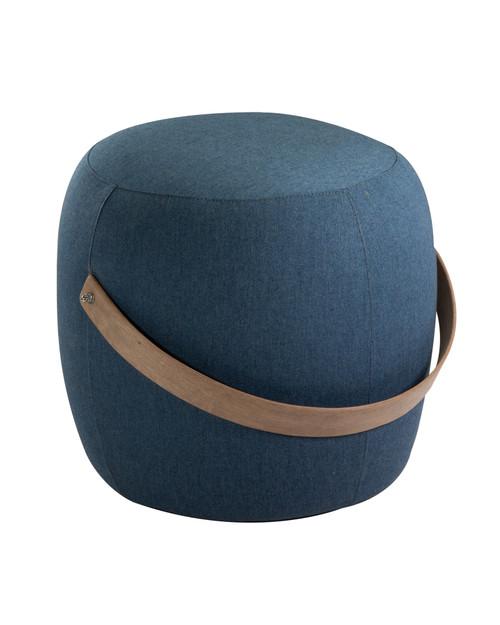 "20"" Upholstered End Table / Pouf - Denim"