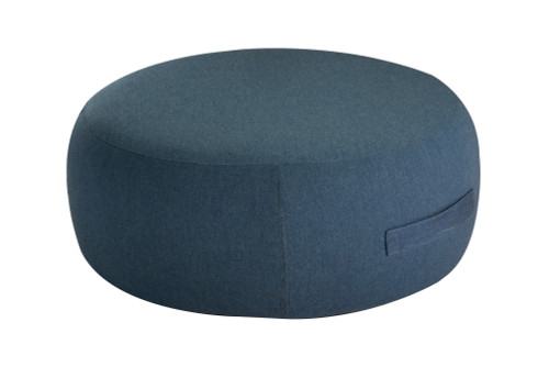 "34"" Upholstered Coffee Table / Pouf - Denim"