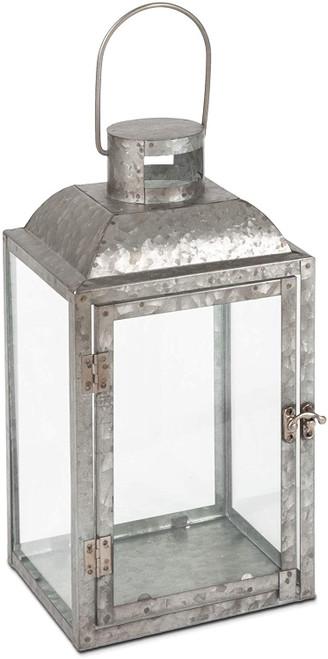 Metal Lantern, Grey, Small