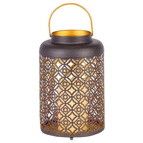 """10""""H Brown Metal Lantern"""