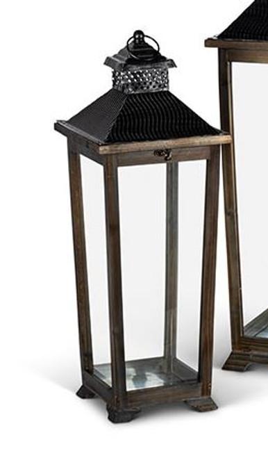 Wood & Iron Lantern - Small