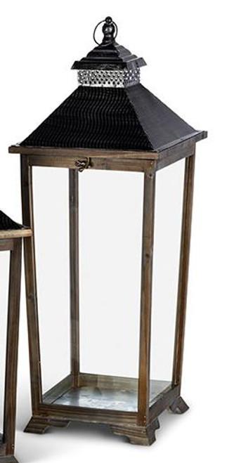 Wood & Iron Lantern - Large