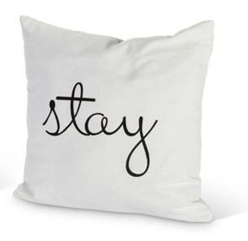 "Porch Pillow - ""stay"""