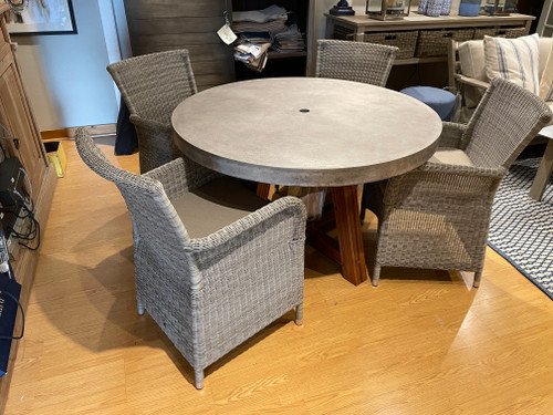 "CO9 Design Sample Set  40% OFF -  Bridge 48"" Round Table with Savannah  Chairs"