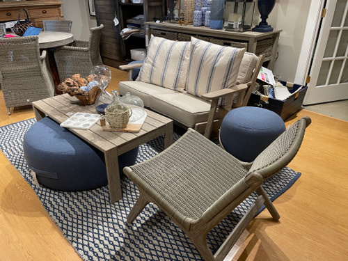 CO9 Design Sample Set  (30% OFF) -   Soho Antique Coffee Table with Dover Loveseat and Arden Chair