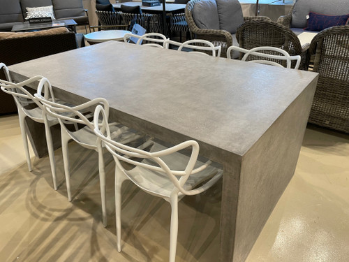 """CO9 Design Sample Set  (30% OFF) -  Bridge 72"""" Waterfall Dining Table with Jennifer Chairs"""