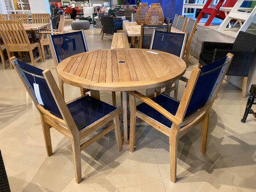"""CO9 Design Sample Set  (30% OFF) -  Essential 42"""" Round Dining Table with Bayhead Chairs"""