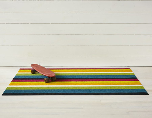 Bold Stripe Shag Doormat 18x28 - MULTI