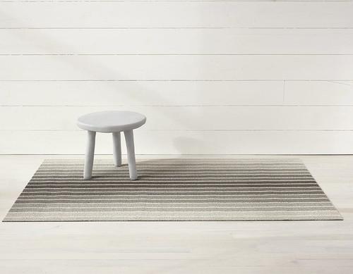 Block Stripe Shag Doormat 18x28 - TAUPE
