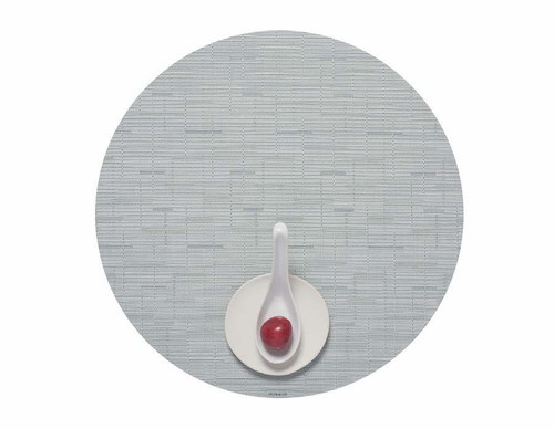 """Bamboo Table Mat 15"""" Round - SEAGLASS"""
