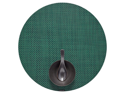 "Basketweave Table Mat 15"" Round - PINE"