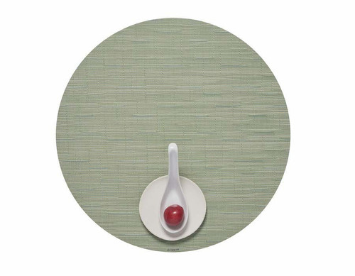 "Bamboo Table Mat 15"" Round - SPRING GREEN"