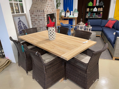 "CO9 Design Sample Set  (40% OFF) -  Lakewood 72"" Trestle Table with Savannah Dining Chairs"