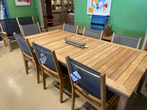 """CO9 Design Sample Set  (30% OFF) -  Essential 87"""" Rectangular Dining Table with Bayhead Dining Chairs"""