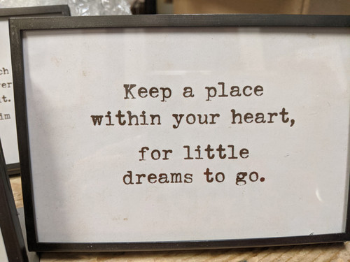 """6""""W x 4""""H Metal & Glass Frame w/ Easel & Saying, (Holds 4"""" x 6"""" Photo)"""