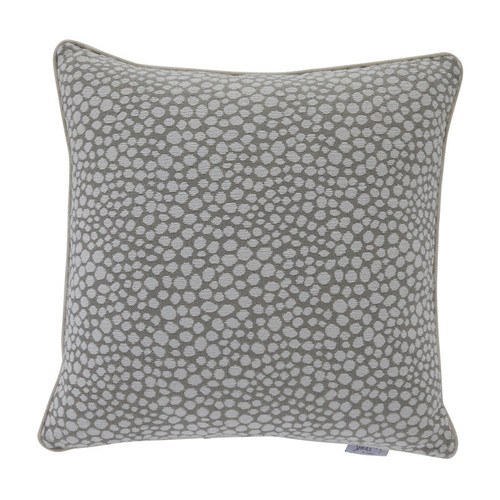 Cheetah 20x20 Pillow-Cheetah Silver Front with Cloud Velvet Backing and Classic Linen Welt