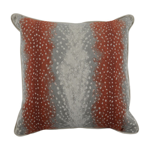 Fawn 20x20 Pillow - Terra Cotta Fawn with Almond Velvet Backing and Mohave Welt