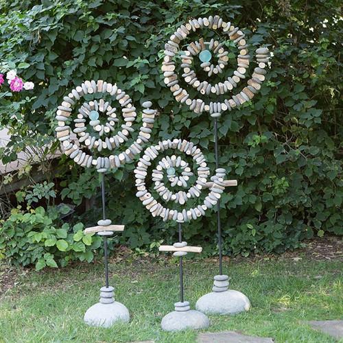 Spiral Garden Stand with Glass Ball
