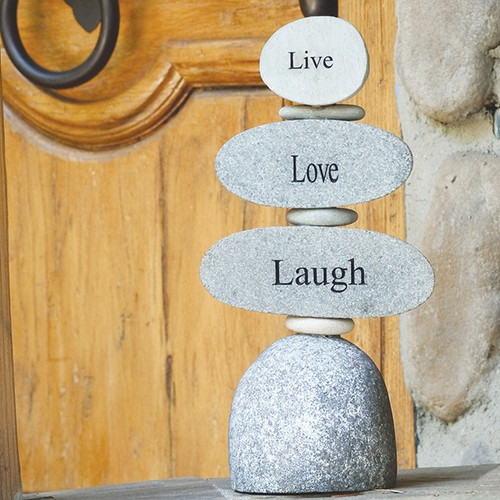 Live Love Laugh, Engraved stone stand