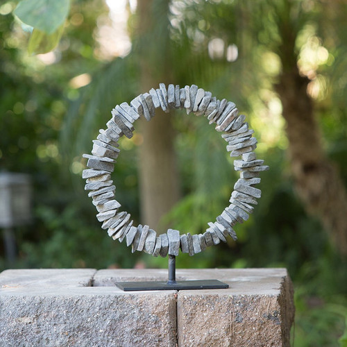 Slate Ring on Stand - Small