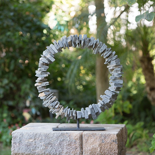 Slate Ring on Stand - Large