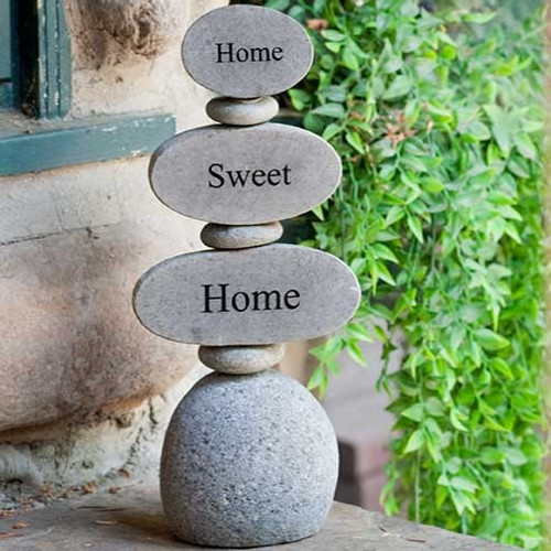 Home Sweet Home, Engraved stone stand