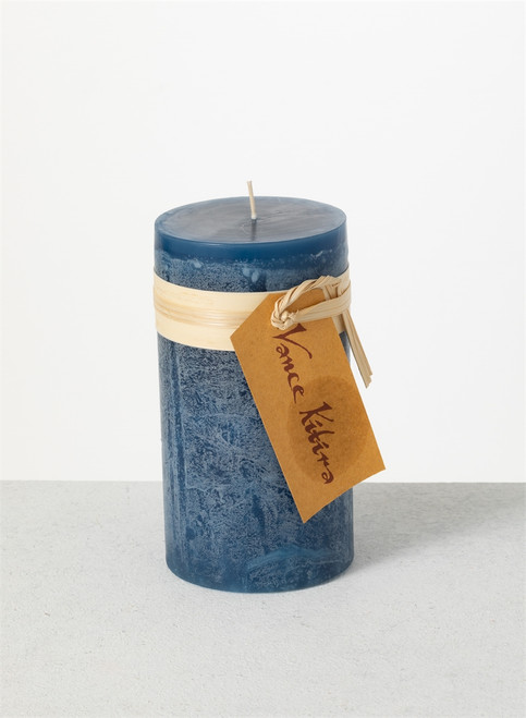 """Timber Candle, 3.25"""" x 6"""", English Blue"""