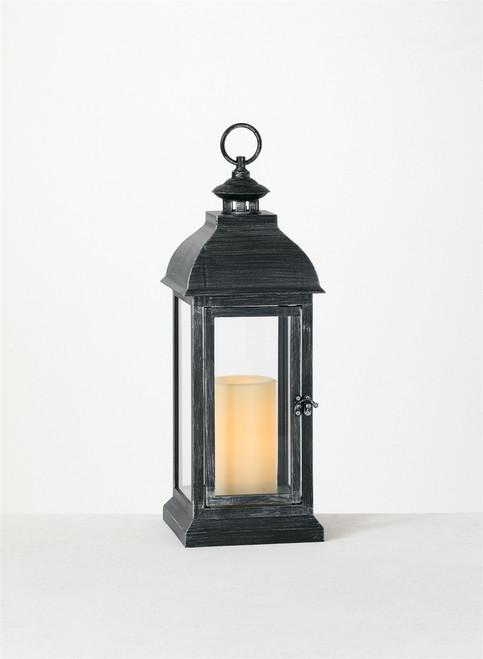 "Lantern Candle with 1 Pillar,  6""x6""x17.5"""