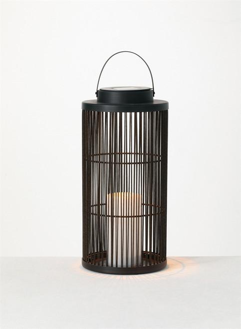"""Solar Lantern with 1 Pillar,7""""x7""""x18.5"""""""