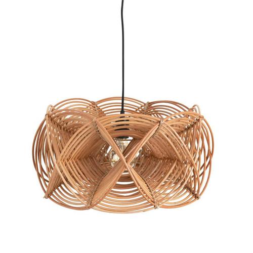 Hand-Woven Rattan Pendant Lamp, 8' Cord
