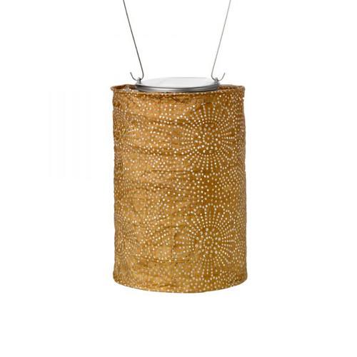 """5"""" x 7.5"""" Stella Cylinder Solar Lantern - Bronze"""
