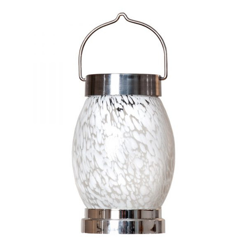 "4.25"" x 6.5"" Glass Solar Boater Lantern - Oval"