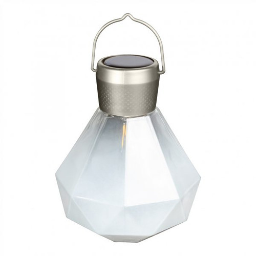 "5.5"" x 7"" Solar Glass Gem Light - Milk"