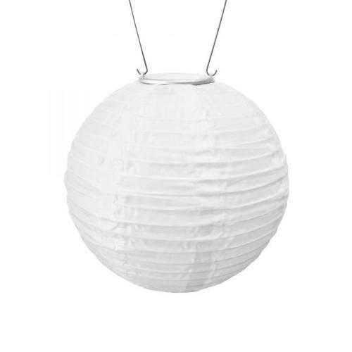 "10"" Round Soji Original Solar Lantern - White"