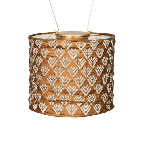"8"" x 7"" Stella Drum Solar Lantern - Copper"