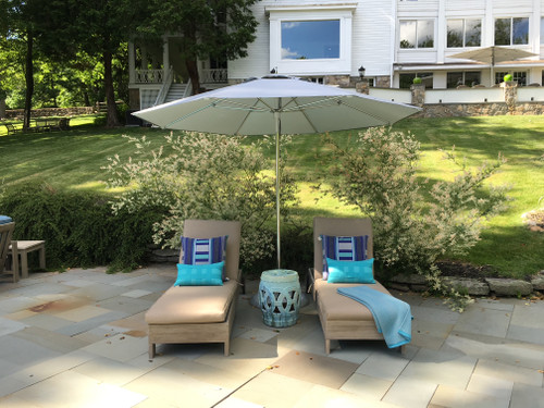 10.5' OCEAN MASTER CLASSIC OCTAGON UMBRELLA-SILVER-POLISHED ALUM POLE