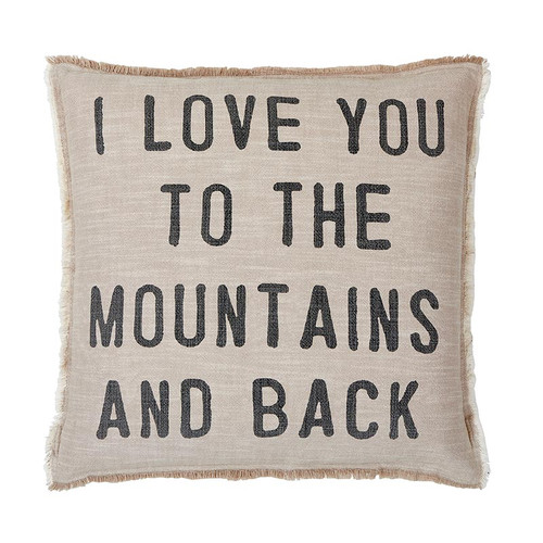 Euro Pillow - I Love You To The Mountains And Back