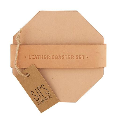 Leather Coaster Set