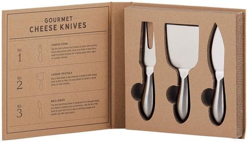 Cardboard Book Set - Gourmet Cheese Knives